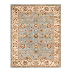 """Frontgate - Aylesbury Tufted Area Rug - 2'3"""" x 7' - 100% wool. Hand-tufted. Cotton-backed for extra durability. Made by Safavieh. Safavieh rugs are easy to care for. Meticulously crafted of premium wool pile for lustrous color and long wear, the Aylesbury Area Rug is derived from time honored Persian and European classic designs. Precisely hand-tufted, this rug lends a look of luxury to traditional interiors. . . . . . Add a rug pad for increased softness underfoot and to hold in place. Imported. Rug designs will vary by size."""