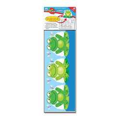Carson-Dellosa - Carson-Dellosa Frog Good Work Holder - 5 x 5.8 - Multicolor - Good Work Holder is an excellent way to give recognition, boost confidence, and encourage successful work. set includes six accents, measuring 5 x 5-3/4, and each accent has a reusable adhesive strip on the front for displaying student work. You no longer need tape, staples, or pushpins. Self-adhesive backing sticks instantly to most smooth surfaces, such as wood, metal and painted cinder blocks. Use the reusable adhesive strip on the front for displaying student work. The frog-themed holder can be repositioned again and again. Remove the holder without damaging your walls. Holder is designed for grades up to 8th and ages up to 13.