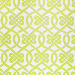 Kimberly Lewis Home - Knotted Wallpaper, Sample, Wasabi - Get ready to tie the knot. You'll love this classic and stylish pattern in just about every room of your house.