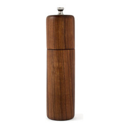 De JONG & Co. - Walnut Column Mill, Salt - Hand turned black walnut. Durable and food safe walnut oil and wax finish. No mineral oil or petroleum distillates. Ceramic mechanism. Can also be used to mill coffee beans and other spices. Products are made to order which can result in longer lead times.