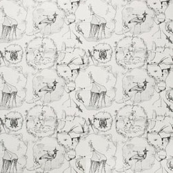 """Anthropologie - Kalahari Vignettes Wallpaper - SureStrip backing allows for paste-free application and easy removalGravure printed paperRoll: 27'L, 27""""WRepeat: 20.5""""LCovers 60.75 square feetUSA"""