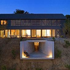 Underground Balcony?! Beautiful Barn Home with a Twist | Designs & Ideas on Dorn