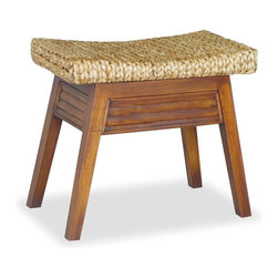 Elegant Home Fashions Wave Bench - I would pair this warm, textured foot stool with a sleek chair for interesting contrast. Parents need a spot to prop up their feet while on nighttime feeding duty.