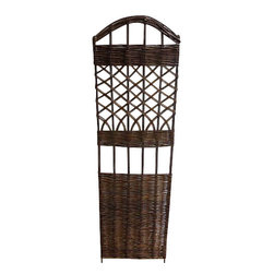 "Master Garden Products - Woven Willow Lattice Trellis, 18""W x 60""H - Comes in a set of 2 pieces. Our self standing willow trellis is constructed with natural willow sticks. Use them for climbing vines or roses or just ornamental purposes. They will add a another dimension to your garden design. Excellent as back drop decoration, or even as fence panels. The woven willow style WS-66 gives you another dimension in designing your English garden theme."