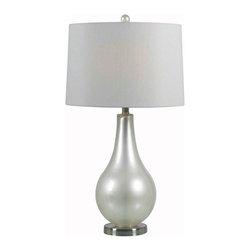 Kenroy - Kenroy 32043PWH Teardrop Table Lamp - Kenroy 32043PWH Teardrop Table Lamp