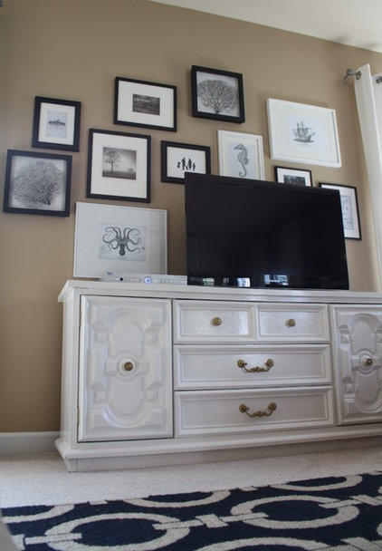 Contemporary Family Room by Emily A. Clark