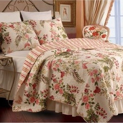 Greenland Home Fashions Butterflies - 2 Piece Quilt Set - About Greenland Home FashionsFor the past 16 years, Greenland Home Fashions has been perfecting its own approach to textile fashions. Through constant developments and updates - in traditional, country, and forward-looking styles – the company has become a leading supplier and designer of decorative bedding to retailers nationwide. If you're looking for high quality bedding that not only looks great but is crafted to last, consider Greenland.