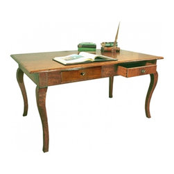 English Writing Desk with Cabriole Legs - English Writing Desk with Cabriole Legs, also available with tapered legs.
