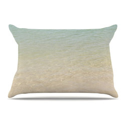 "Kess InHouse - Catherine McDonald ""Ombre Sea"" Beach Photography Pillow Case, King, 36""x20"" - This pillowcase, is just as bunny soft as the Kess InHouse duvet. It's made of microfiber velvety fleece. This machine washable fleece pillow case is the perfect accent to any duvet. Be your Bed's Curator."