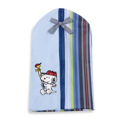 Lambs & Ivy - Lambs & Ivy Team Snoopy Diaper Stacker - This handy diaper stacker is a great addition to your child's Team Snoopy nursery. It's a cute coordinate that is designed to hold clean disposable diapers or cloth diapers.