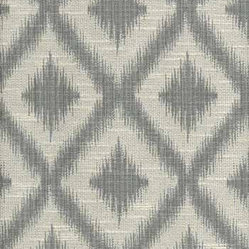 Ikat Fret Pewter Multi-Purpose Fabric