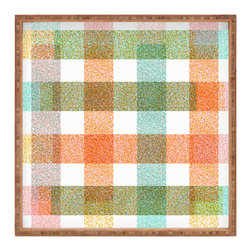 DENY Designs - Zoe Wodarz Pastel Plaid Square Tray - With DENY's multifunctional square tray collection, you can use it for decoration in just about any room of the house or go the traditional route to serve cocktails. Either way, you��_ll be the ever so stylish hostess with the mostess!