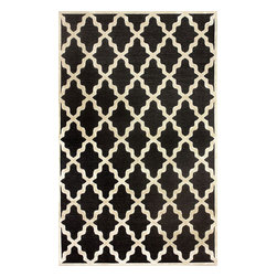 """nuLOOM - Contemporary 5' 1"""" x 8' Dark Grey Machine Made Area Rug Trellis VL06 - Made from the finest materials in the world and with the uttermost care, our rugs are a great addition to your home."""