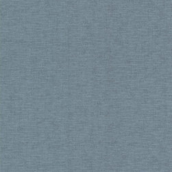 Brewster Home Fashions - Valois Aqua Linen Texture Wallpaper Bolt - The color of the sea this fine aqua linen wallpaper has a tranquil sophistication. Finished with a boutique style sapphire shimmer this texture truly enlightens walls.