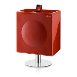GenevaSound - XL High Powered All-In-One Hi-Fi For CD, iPod/iPhone, Radio and More, in Red - With this all-in-one music center, you get 600 watts of power to pump up your jams, whether they're on CD, iPod/iPhone, radio or any accessory compatible with the line-in jack. What rocks even more is that you get all this in one pretty package you don't have to hide away.