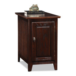 KD Furnishings - Favorite Finds Cabinet Storage End table - Enhance your living room's functionality and beauty with this wooden storage end table. This pretty table is ideal for holding books, DVDs, and other items out of sight. It has an amply sized top for displaying a lamp or other items.