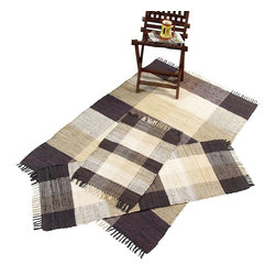 Chesapeake Merchandising - Chesapeake Check Chindi 3 pc. Accent Rug Set - 15200 - Shop for Rugs and Runners from Hayneedle.com! Add pops of fun color to your home with the Chesapeake Check Chindi 3 pc. Accent Rug Set. This collection includes three hand-woven cotton accent rugs with smart fringe perfect for any room. For best results spot-clean with mild detergents. Choose from several color options.About Chesapeake Merchandising Inc.Dan Arora is a second-generation entrepreneur with a family background in quality textiles. He established Chesapeake Merchandising in 1995 to provide customers with sumptuous bath accent and area rugs as well as luxurious table linens and bedspreads. Chesapeake has a liaison office in India with a team of professionals committed to finding quality stylish textiles. This team keeps close watch on sourcing the finest raw materials exercising control over dyeing and weaving and completing the finishing stages to ensure there are no compromises when it comes to quality.