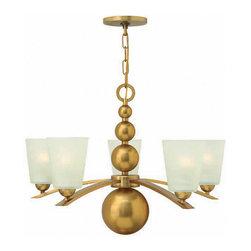 Hinkley Lighting - Hinkley Lighting 3445VS Zelda Vintage Brass 5 Light Chandelier - Hinkley Lighting 3445VS Zelda Vintage Brass 5 Light Chandelier