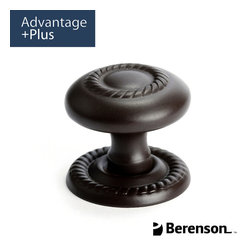 0956-1ORBL-P Oil Rubbed Bronze Light Cabinet Knob by Berenson - Traditional style cabinet knob featured in Oil Rubbed Bronze. This collection has a classic elegance that allows it to accent well with light and neutral colors. It has strong elements of symmetry which adds to the formality of design spaces. Intricate details are evident and shapes are soft with smooth edges that blend together seamlessly