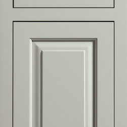 """Dura Supreme Cabinetry - Dura Supreme Cabinetry Kendall Cabinet Door Style - Dura Supreme Cabinetry """"Kendall"""" cabinet door style in Paintable shown with Dura Supreme's """"Moonstone"""" gray paint finish with concealed inset hinge. (With non-beaded frame)"""