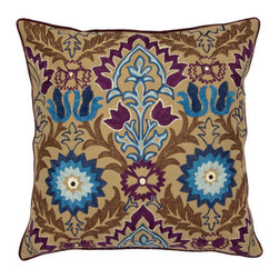 Spring & Spruce - Alexandria Pillow- Plum - We hate to gush over our designs, but you would be hard pressed to find a better looking decorative pillow than Alexandria.  Adorned with detailed embroidery, its rich patterns pop right off the pillow, with colors that match the best of current trends.  Alexandria also pairs great with the rest of our embroidered collection, Calabasas, Adonis, Gibraltar, & Borelli, creating a curated set that you can't miss with!