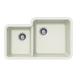 Houzer - Houzer Quartztone S-175U CLOUD 70/ 30 Double Bowl Undermount Sink - Houzer granite kitchen sink Quartztone Series Undermount 70/30 Double Bowl - CLOUD