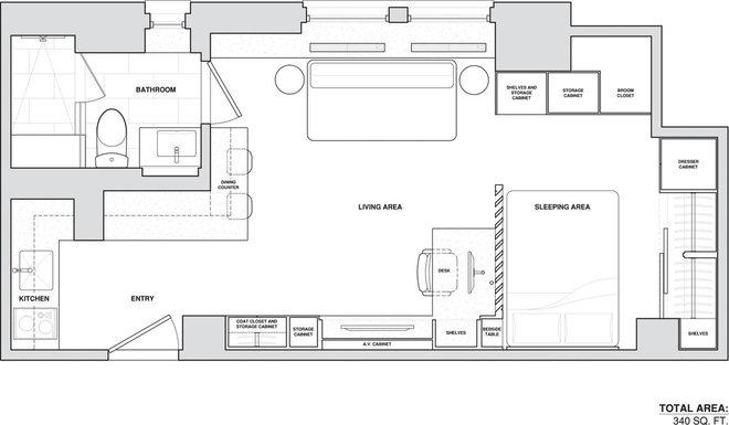 Contemporary Floor Plan by Allen+Killcoyne Architects