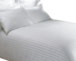 SCALA - 600TC 100% Egyptian Cotton Stripe White Twin XXL Size Fitted Sheet - Redefine your everyday elegance with these luxuriously super soft Fitted Sheet. This is 100% Egyptian Cotton Superior quality Fitted Sheet that are truly worthy of a classy and elegant look.