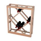 Wine Cellar Innovations - Traditional Series Open Diamond Bin - below tabletop for 54 Bottles - The Redwood & Pine Open Diamond Bin wine rack is for use below the Redwood & Pine tabletop. Assembly required.