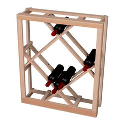 Wine Cellar Innovations - Traditional Series Open Diamond Bin - below tabletop for 54 Bottles - The Redwood & Pine Open Diamond Bin wine rack is for use below the Redwood & Pine tabletop. Assembly required.