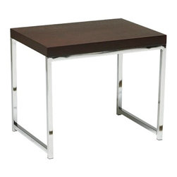 Avenue Six - Avenue Six Wall Street End Table - -Durable chromed steel base