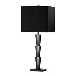 Cyan Design - Deco Table Lamp - Deco table lamp in black.