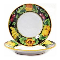 Artistica - Hand Made in Italy - Geribi: Pasta/Soup Bowl Fruits Black - Geribi Collection: