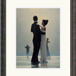 Amanti Art - Dance Me to the End of Love Framed Print by Jack Vettriano - In 1999, when his first intercontinental exhibition took place in NYC, the work of this Scottish-born artist skyrocketed in popularity. His use of nostalgic 1920s motifs to create romantic settings remains a favorite style with decorators in the US and the UK.