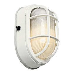 Kichler Lighting - Kichler Lighting 11029WH Utilitarian Outdoor Wall Light - Medium In White - Kichler Lighting 11029WH Utilitarian Outdoor Wall Light - Medium In White