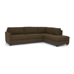 Apt2B - Tuxedo 2-Piece Sectional Sofa - This sectional is on the best-dressed list. It has a great, transitional design that allows it to sit comfortably in any room. Solid upholstery provides the perfect backdrop for you to layer on the color and pattern with a throw or pillows.