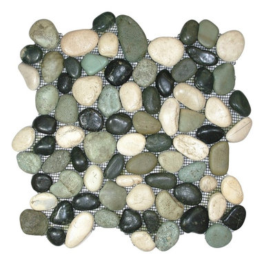 CNK Tile - Glazed Bali Turtle Pebble Tile - For a truly extraordinary floor, backsplash or other tiled surface in your decor, go with these impeccable pebbles. Each beach bauble is hand sorted, then given a wave-washed glaze to highlight its beauty.