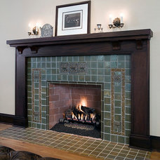 Traditional Fireplaces by FRICANO CONSTRUCTION CO