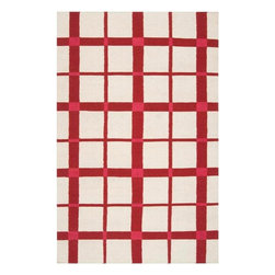 Country Living - Country Living Happy Cottage Flatweave Hand Woven Wool Rug X-85-1185CH - From Country Living the Happy Cottage collection offers classic cottage inspired style in a fresh and cheerful color palette. Designs include classic farmhouse stripes, bold plaids, and vintage patterns, transforming any space into a cozy retreat. These flat pile reversible rugs are hand woven in India from 100% wool.