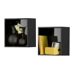 Nexera - Nexera Avenue Wall Cubes, Set of 2 - Avenue Wall Cubes will add the final touch to your room setting and complete it with additional decorative storage. Sold in pair (2 units), organize your Avenue wall shelves in any way you like to create your own personalized home decor. Avenue Collection from Nexera proposes modular and flexible combinations for your entertainment room, home office area and bedroom. On top of all its smart features, the whole collection also features quality melamine and textured lacquer surfaces, solid metal or full extension slides and adjustable levelers.