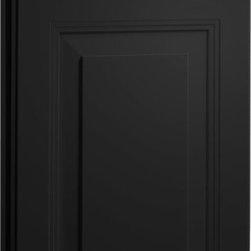 Carlton Door | Painted Carbon Finish | CliqStudios.com Kitchen Cabinets - Carlton's rich detailing reflects the fine craftsmanship in this elegant raised-panel door with unique waterfall-edge profile. Carlton breaks down all geographical boundaries by blending with any decor.