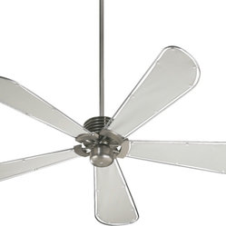 "Quorum International 159605-65 Dragonfly Satin Nickel 72"" Ceiling Fan"