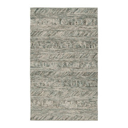 Surya - Contemporary Norway 8'x10' Rectangle Silt Green-Teal Green Area Rug - The Norway area rug Collection offers an affordable assortment of Contemporary stylings. Norway features a blend of natural Silt Green-Teal Green color. Handmade of 100% Wool the Norway Collection is an intriguing compliment to any decor.