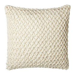 "Peacock Alley Knotted-Yarn European Pillow, 25""Sq."