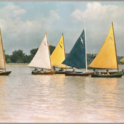 "Concord Global - National Geographic Photographic 2'7"" x 4'1"" Rugs Sailboats Multi Contemporary ( - Originally photographed for a 1937 National Geographic magazine feature article, these vintage sailboats once occupied the calm waters of the Potomac River in Washington, D.C., U.S.A."