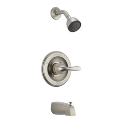 Delta - Classic Monitor 13 Series Tub and Shower Trim - Delta T13420-SS Classic Monitor13 Series Tub and Shower Trim with Single Function Showerhead and Tub Spout in Stainless