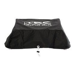 Frontgate - TEC Cherokee Portable Infrared Gas Grill Cover - Exterior is handcrafted of corrosion-resistant brushed aluminum. 100% infrared energy completely eliminates the hot air that often dries out grilled foods to ensure meats stay tender after cooking and retain up to 35% more of their natural juices. 16,000 BTU energy-efficient burner is constructed of 304 stainless steel. Electronic push-button ignition. Nonstick 304 stainless steel cooking grates. Small and light enough to travel with you anywhere, the TEC Cherokee™ Portable Infrared Gas Grill is perfect for hunting or fishing trips, picnicking at the beach, or tailgating at the game. It cooks with the speed of 100% infrared energy and distributes heat evenly across the grilling surface, so you can enjoy super-moist, charbroiled taste wherever you go. . . . . . Self-cleaning surface protects burners and keeps the grill interior clean. . Cookware can be placed directly on the cooking grates or radiant glass panel. Removable ash tray. Includes regulator for use with a 16.4 disposable LP cylinder (not included) . Regulator for use with a 20 lb. LP cylinder not included (sold separately). Includes grill cover. View warranty . Made in the USA.