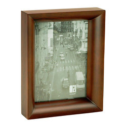 "Boom - Radius Frame, 5"" x 7"" - This unique frame features beautifully smooth lines that draw the eye directly into your image. Showcase a favorite family photo or a special memory from your travels and it will be gracefully accented by this warm and modern frame."