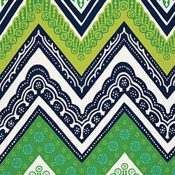 "Tangier Frame Print 174741 Fabric, Sea Grass - I have had a love affair with this fabric for quite some time. I think it's the ""pattern within a pattern"" that makes it interesting — it's not your everyday, run-of-the-mill chevron."