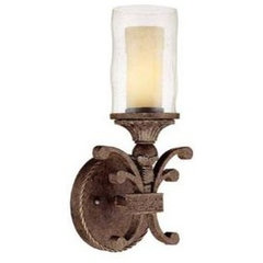 Capital Lighting C1121CU286 Squire 1 Bulb Wall Sconce